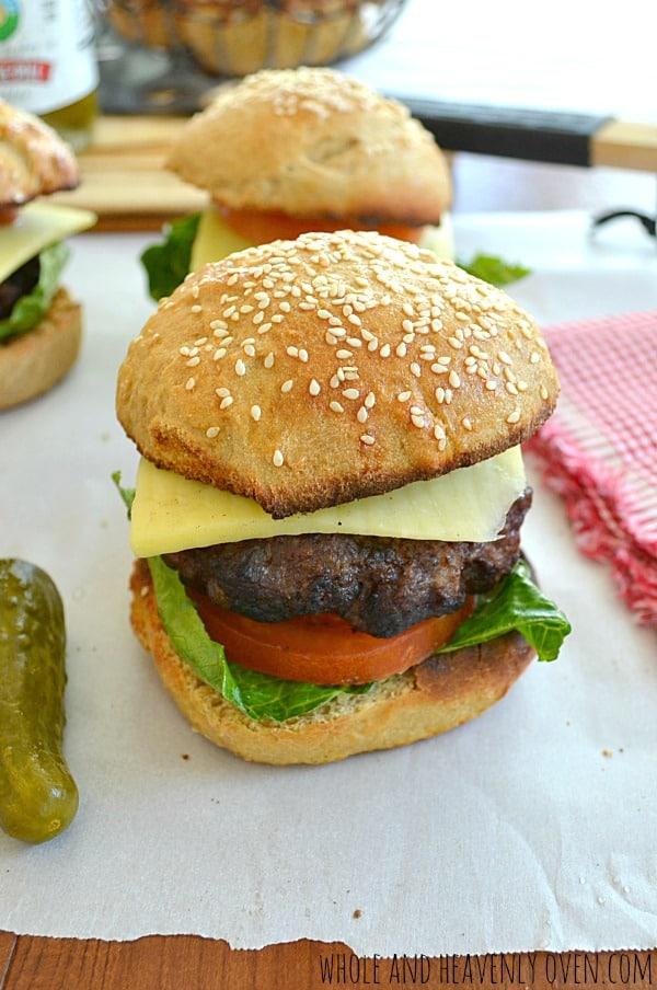 All-American Loaded Hamburgers | wholeandheavenlyoven.com