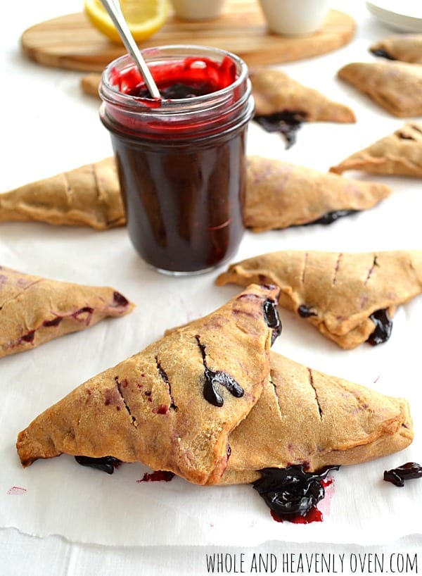 Flaky Blueberry Turnovers | wholeandheavenlyoven.com