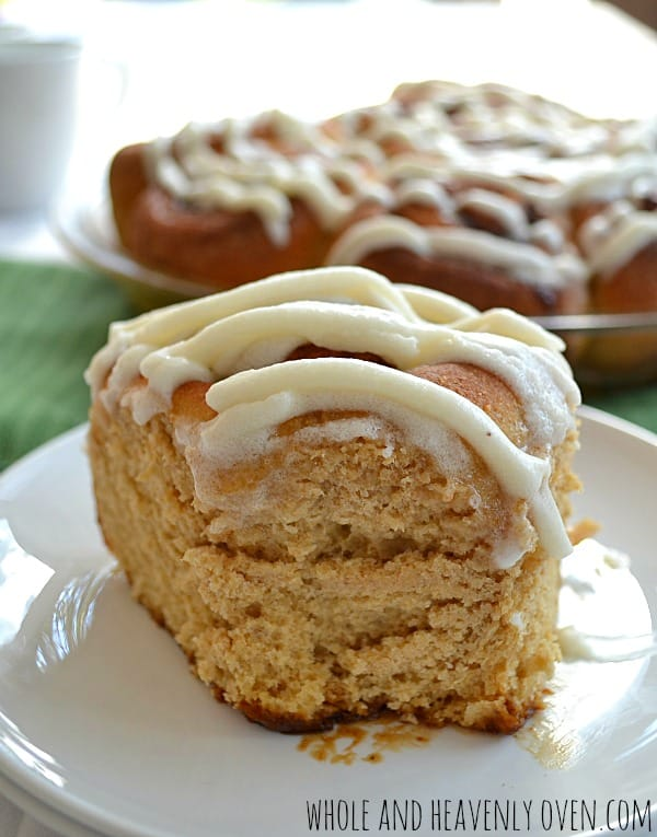 Fluffy Overnight Cinnamon Rolls | wholeandheavenlyoven.com