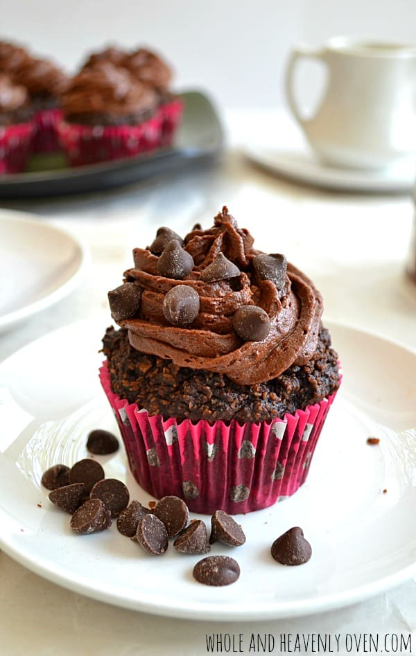 Gluten-Free Chocolate Cupcakes With Whipped Chocolate Ganache   wholeandheavenlyoven.com