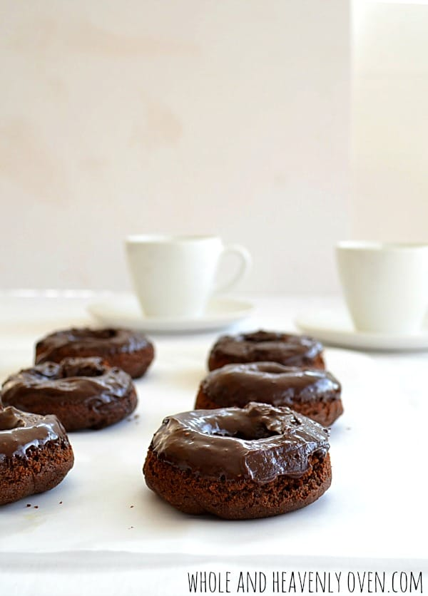 Healthy Chocolate Donuts With Chocolate Ganache | wholeandheavenlyoven.com