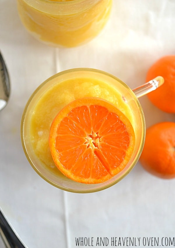 Orange Julius Slushies | wholeandheavenlyoven.com