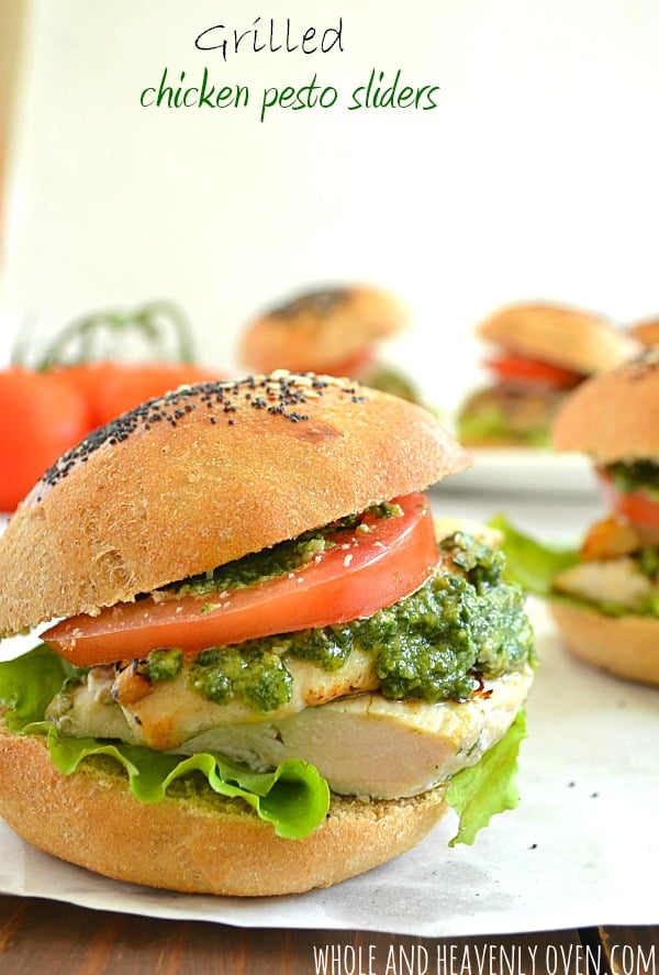 Grilled Pesto Chicken Sliders12