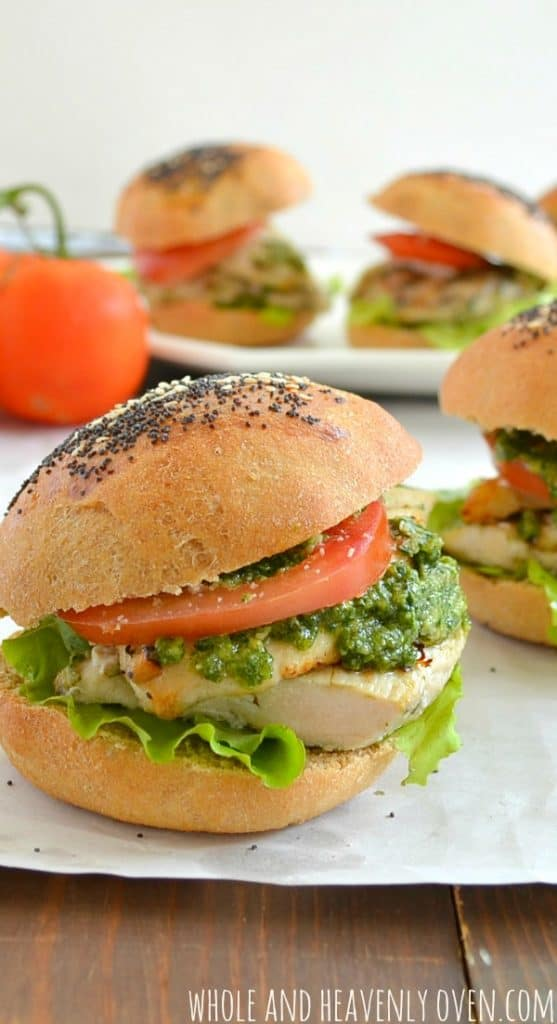 Grilled Pesto Chicken Sliders6