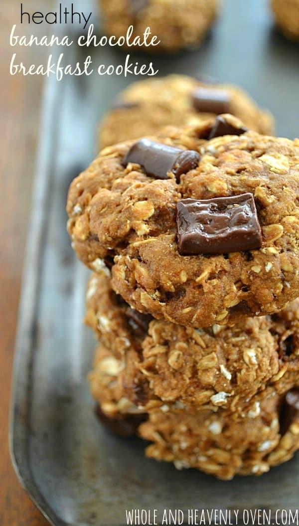 Healthy Banana Chocolate Breakfast Cookies12