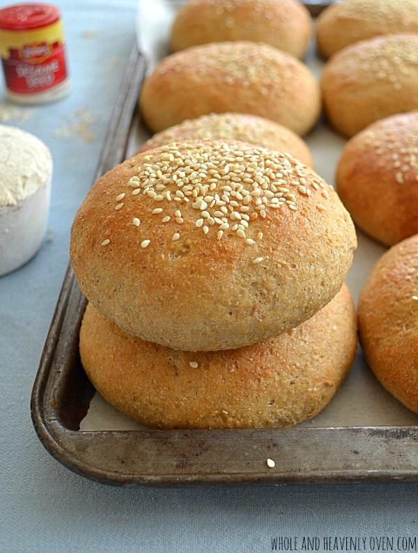 Homemade Whole-Wheat Hamburger Buns2