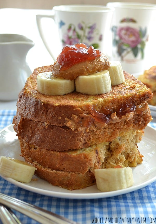 PBJ-Stuffed French Toast | wholeandheavenlyoven.com