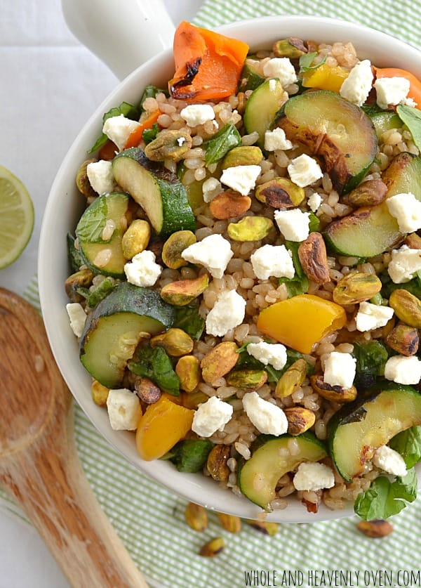 Summer Rice Salad with Grilled Veggies + Feta8