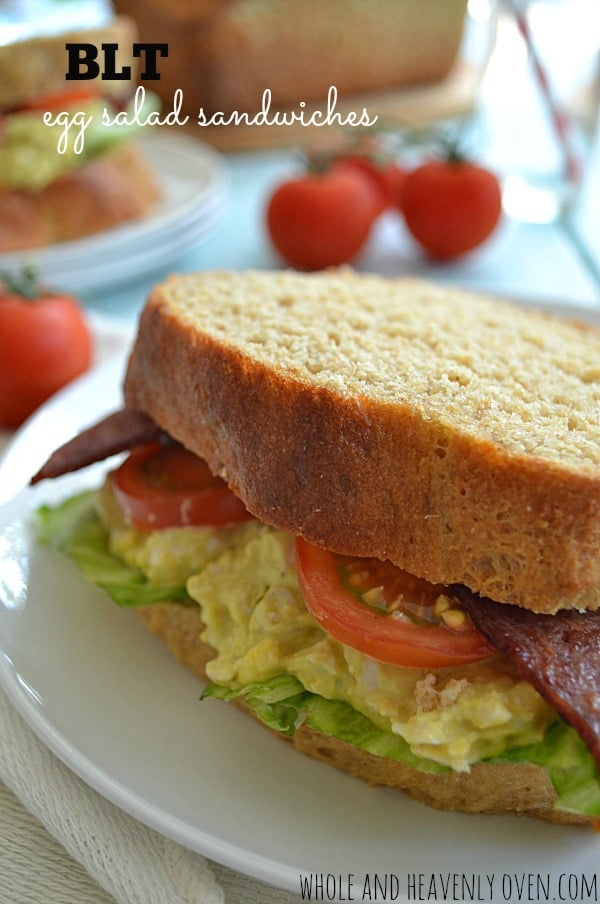 BLT Egg Salad Sandwiches | wholeandheavenlyoven.com