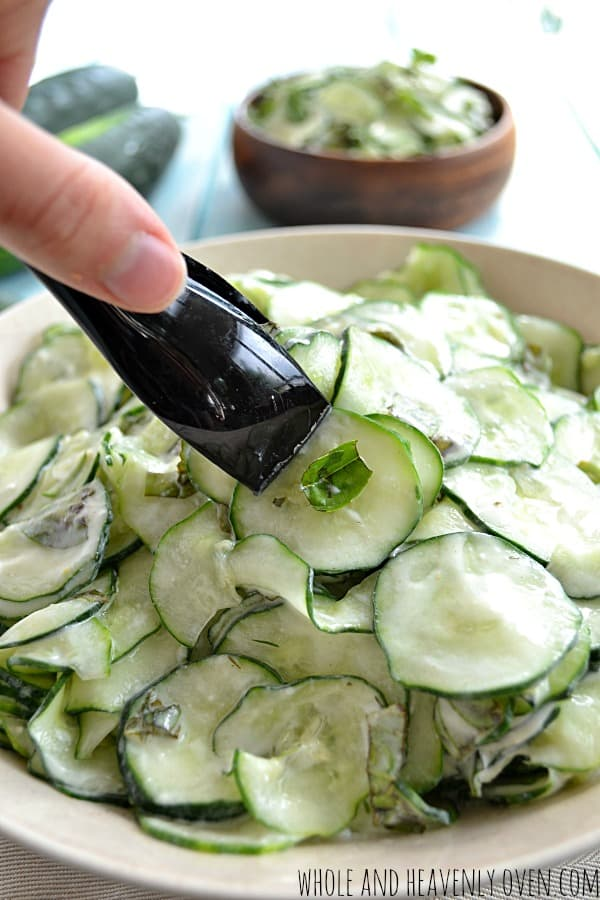 Basil Cucumber Salad4