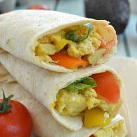 Loaded Veggie Breakfast Wraps