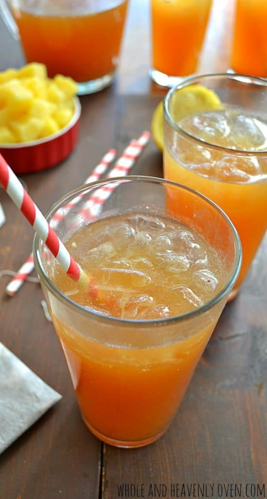 Tropical Iced Tea | wholeandheavenlyoven.com