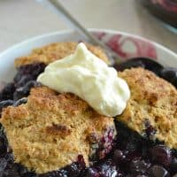Best-Ever Blueberry Cobbler