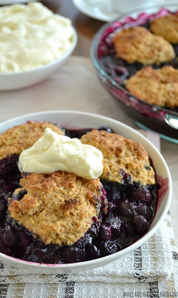 Best-Ever Blueberry Cobbler | wholeandheavenlyoven.com