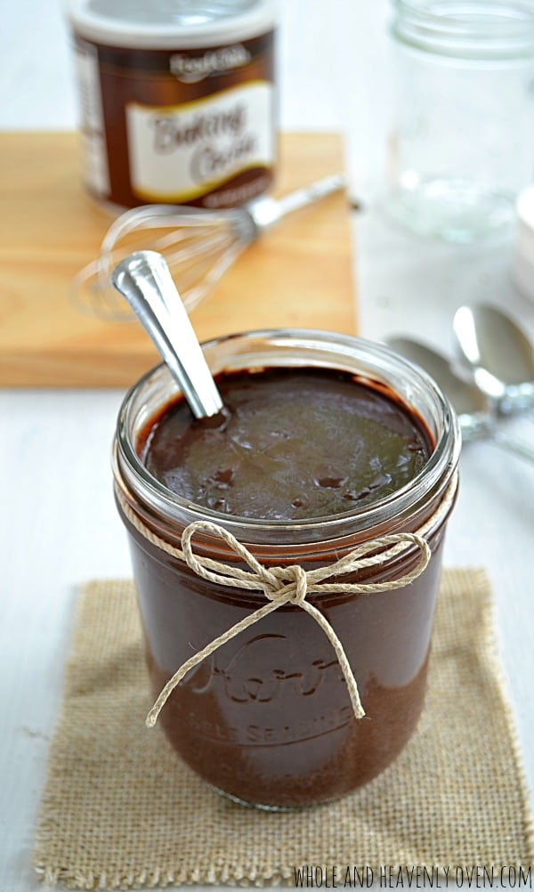 Better-Than-Storebought Hot Fudge Sauce | wholeandheavenlyoven.com