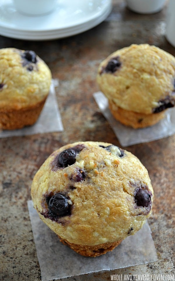 Blueberry Cheesecake Muffins | wholeandheavenlyoven.com
