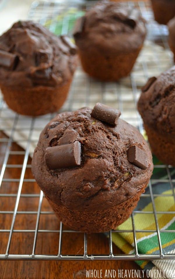 Healthy Chocolate Zucchini Muffins3