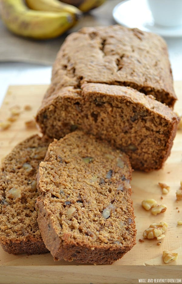 Perfect Banana Bread | wholeandheavenlyoven.com