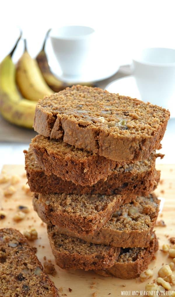 Perfect Banana Bread   wholeandheavenlyoven.com