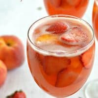 Sparkling Strawberry Peach Sangria