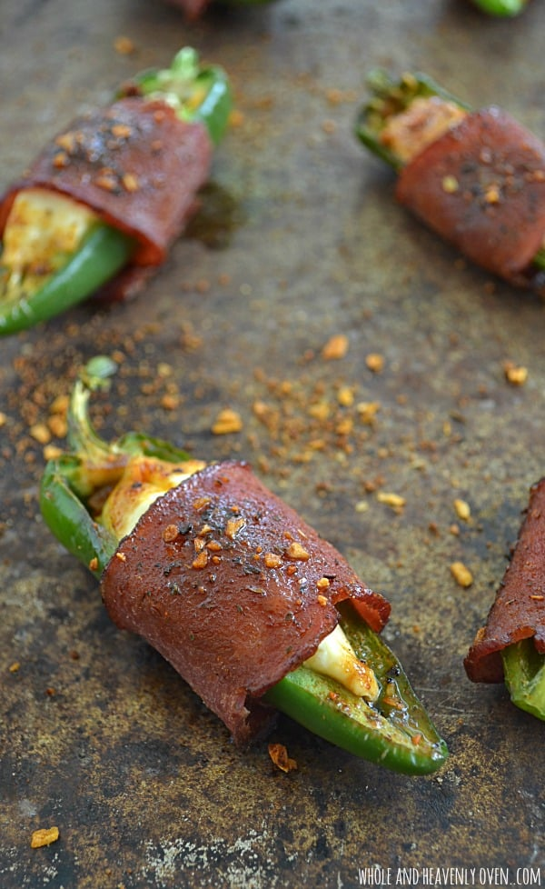 Sweet 'n' Spicy Bacon-Wrapped Jalapeno Poppers | Whole & Heavenly Oven