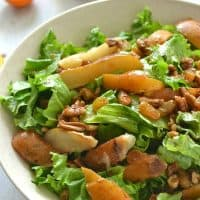 Autumn Pear Salad with Pecans + Golden Raisins