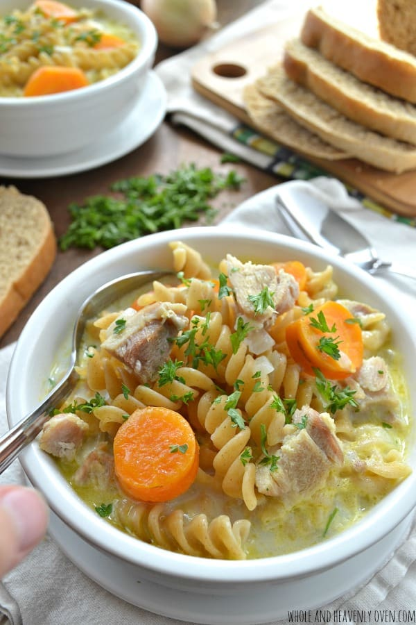 Better-Than-Anything Creamy Chicken Noodle Soup   wholeandheavenlyoven.com