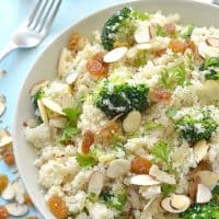 "Broccoli Cauliflower ""Rice"" Pilaf"