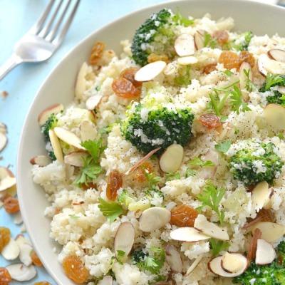 Broccoli Cauliflower Rice Pilaf10
