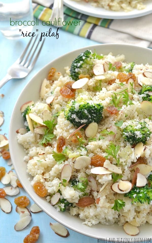 "Broccoli Cauliflower ""Rice"" Pilaf 