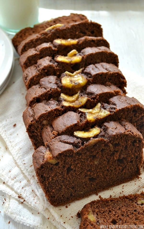 Chocolate Banana Brownie Bread | Whole & Heavenly Oven