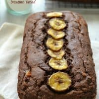Chocolate Banana Brownie Bread