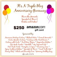 Triple Blog Anniversary $250 Amazon Card Giveaway