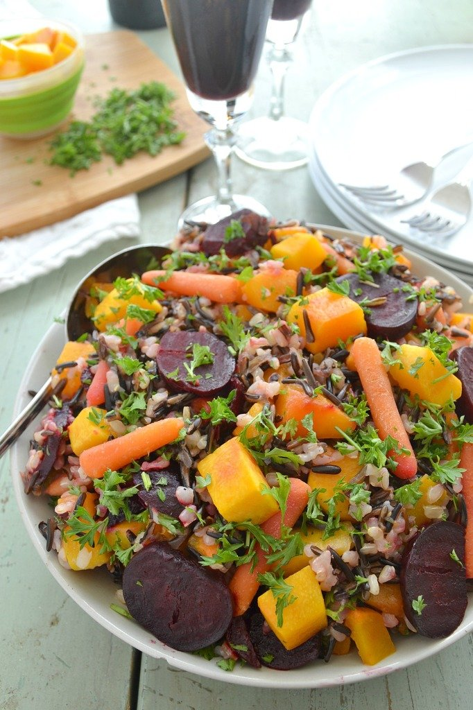 Harvest Wild Rice Salad -- Chock-full of every kind of harvest veggie you can imagine!