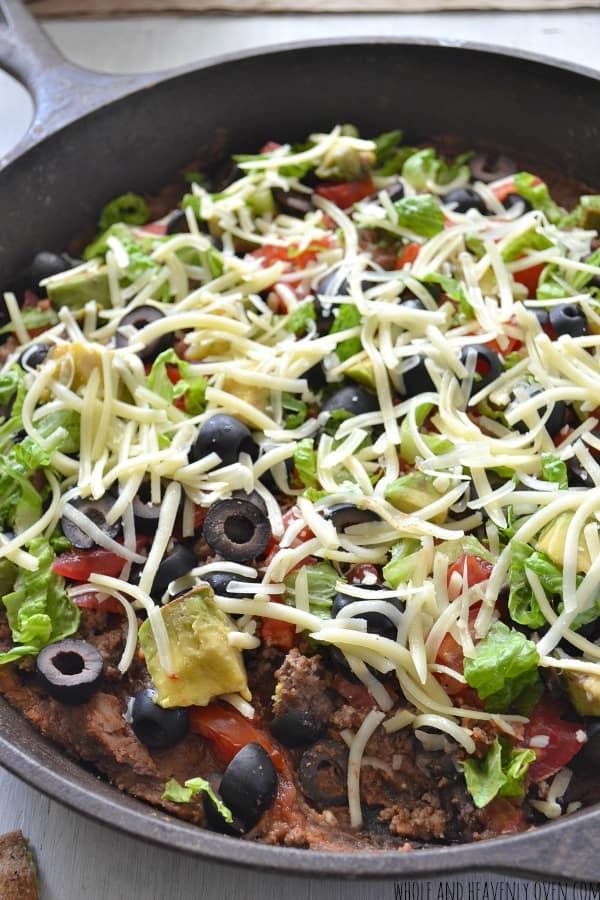 Refried Bean Taco Dip | wholeandheavenlyoven.com