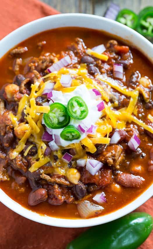 Three-Bean Chili   wholeandheavenlyoven.com