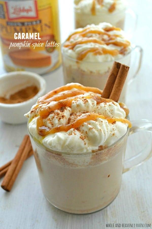 Caramel Pumpkin Spice Lattes8