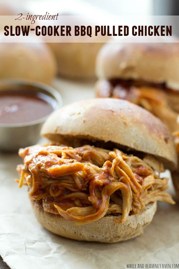 Barbecue Shredded Chicken From The Oven Or Slow Cooker Recipe ...