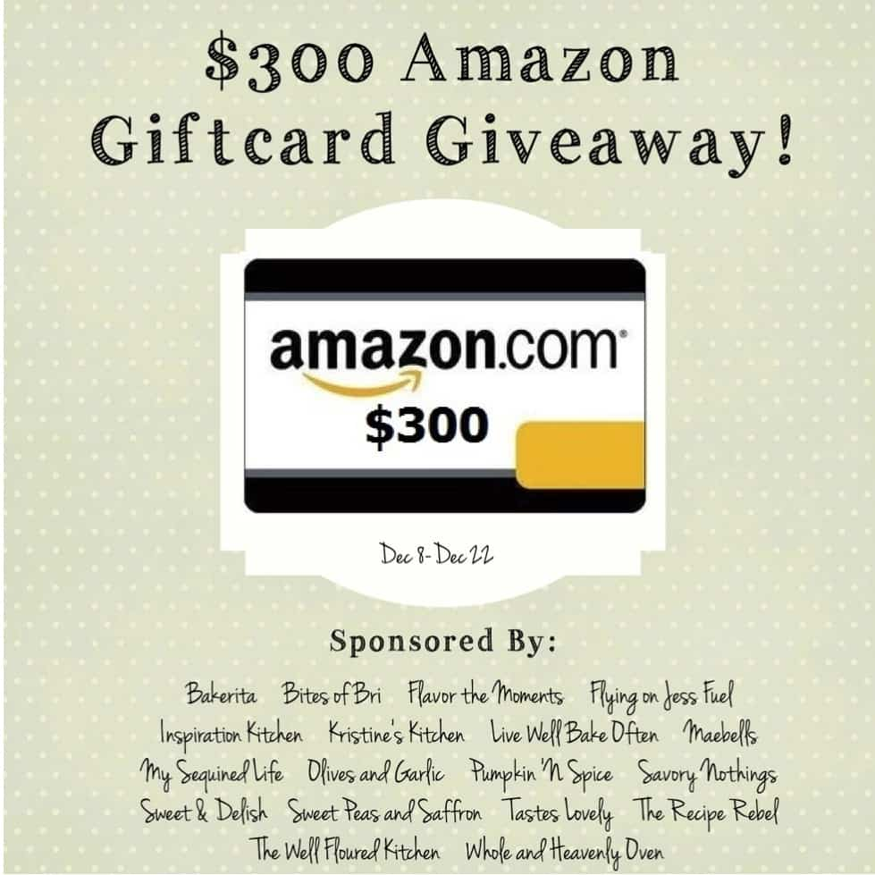 $300 Amazon Giftcard Giveaway --- Enter for your chance to win a $300 Amazon giftcard!