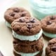 Chocolate Mint Cream Cookie Sandwiches