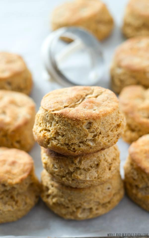 Ultra-flaky and oh-so buttery, these classic buttermilk biscuits are sure to become your go-to biscuit recipe. Step-by-step photos and ALL the secrets to perfect biscuits included! @WholeHeavenly