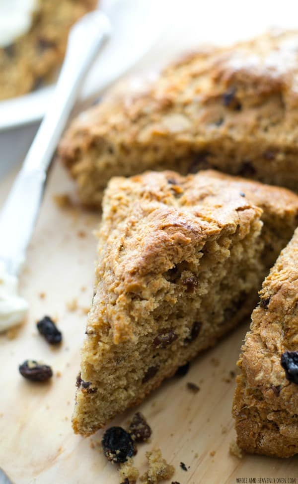 This hearty irish soda bread is unbelievably soft and tender inside and chock-full of raisins and cinnamon. Enjoy slices warm from the oven, slathered with a tangy orange cream cheese.