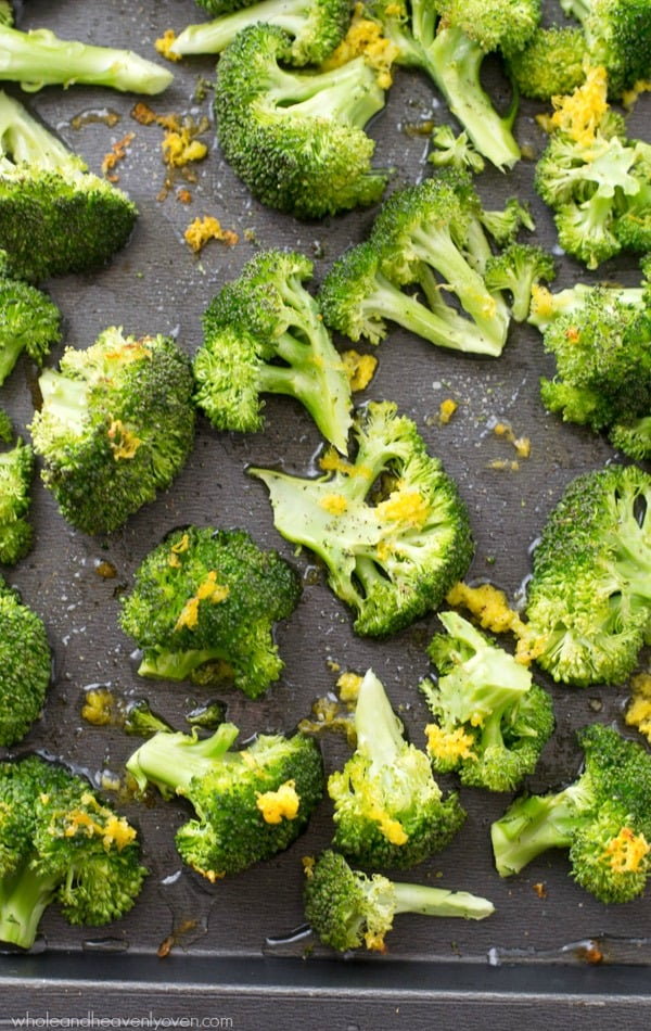 There's so much flavor loaded into this lemon-roasted broccoli, eating your veggies will never be boring again! Ready in 15 minutes and an ideal spring side dish. @WholeHeavenly