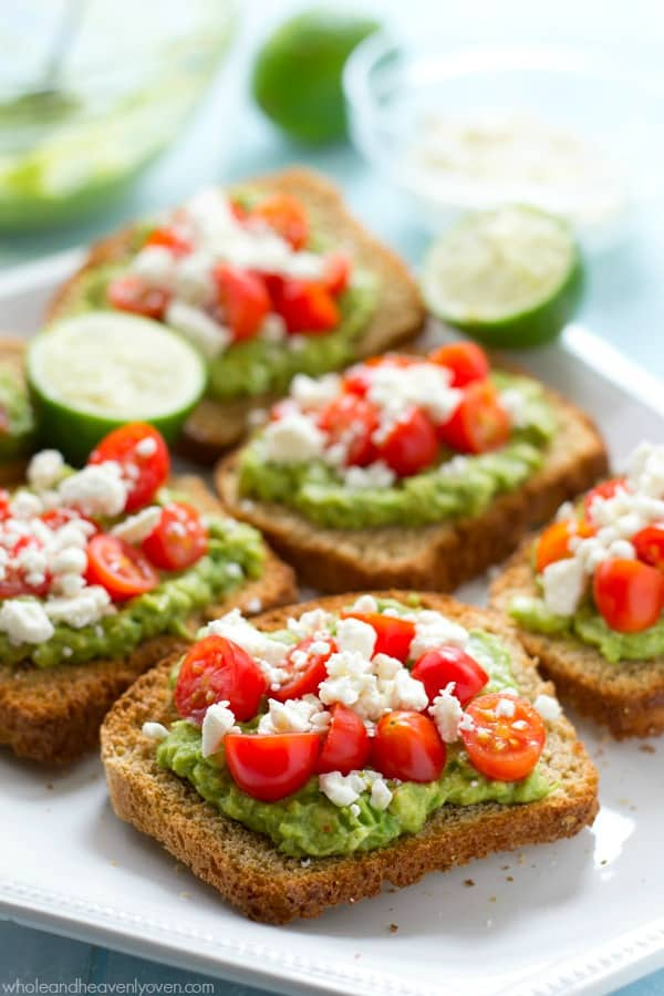 This greek-style avocado toast is quick and healthy enough for a filling weekday breakfast, but also fancy enough for any weekend brunch.---You'll never go back to regular old toast again! @WholeHeavenly
