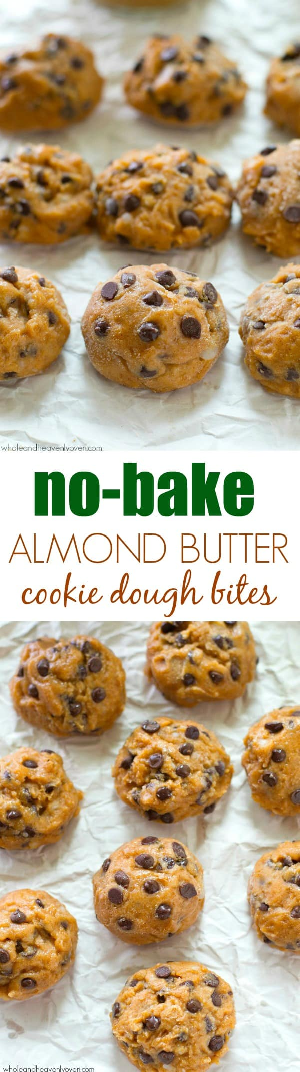 You won't be able to resist having 2 or 3 of these addicting chocolate-loaded cookie dough bites especially when it's hot outside! They whip up in minutes, so stock your freezer. @WholeHeavenly