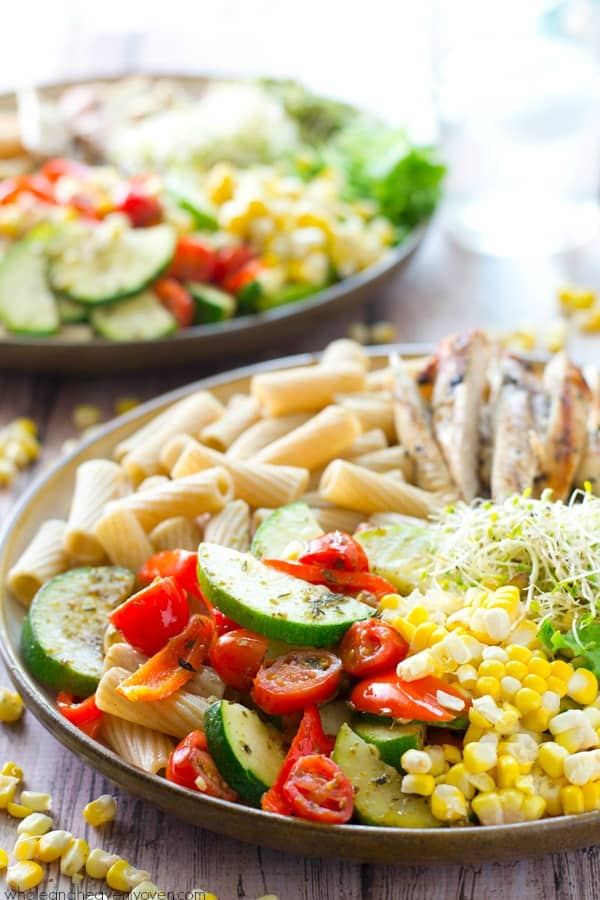 California veggie grilled chicken pasta bowls loaded with just about every veggie on the planet and lots of grilled chicken these forumfinder Gallery