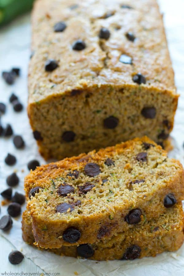 This dark chocolate-loaded zucchini bread is so moist, soft, and perfectly-spiced you would never guess that it's on the healthier side.---You'll want to stock up the freezer with this one!