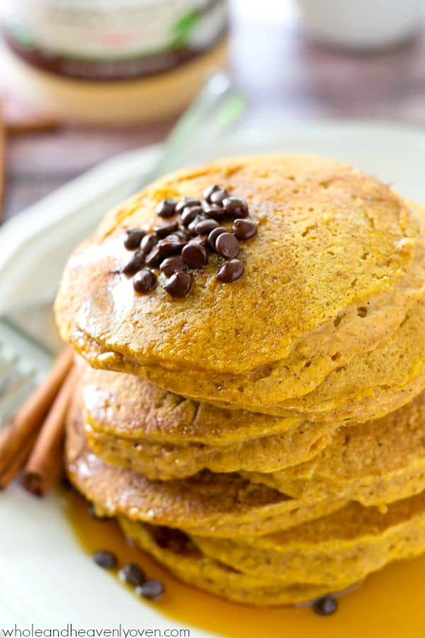 Coconut oil and buttermilk are the keys to what makes these pancakes so perfect! Loaded with tons of falls spices and pumpkin, you'll never find a more fluffy and ultra-soft pancake in the world!