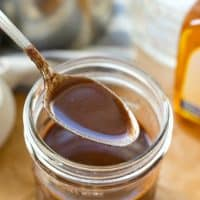 Skip that coffee shop run! It'll only take you five minutes and four ingredients to whip up this agave mocha coffee syrup that makes any cup of coffee taste like a cafe-style mocha!