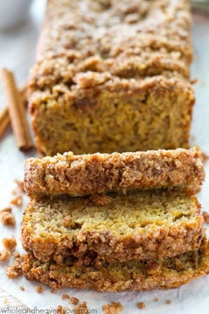 Enjoy all the flavors and textures you love about coffee cake and banana bread all in one irresistible cinnamon streusel-covered loaf!